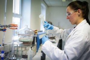 Person in a laboratory